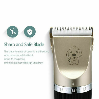 NEW Electric Animal Pet Dog Cat Hair Trimmer Shaver Razor Grooming Quiet Clipper 8