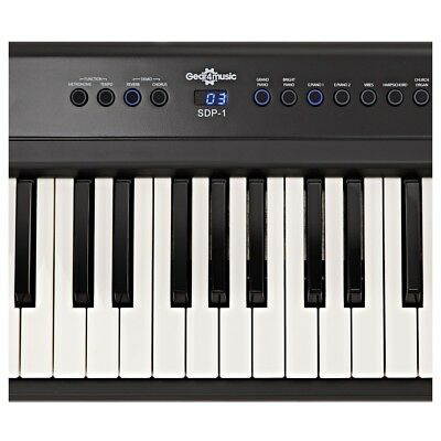 SDP-1 Portable Digital Piano by Gear4music + Stand and Headphones 4