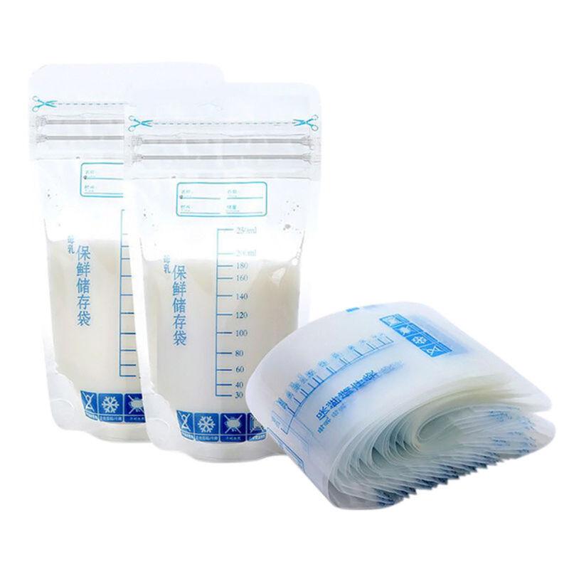 100Pcs 250ml Milk Freezing Bags Milk Baby Breast Milk Storage Bag Pouch BPA Free 2