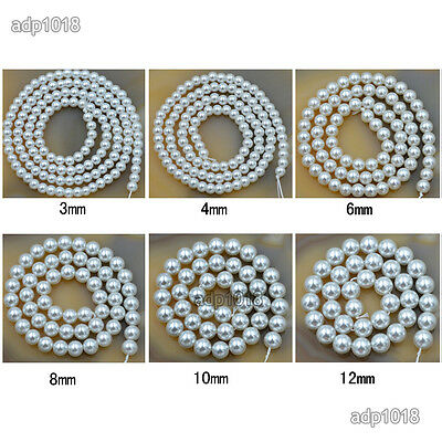 Wholesale Top Quality Czech Glass Pearl Round Beads 16'' 3mm 4mm 6mm 8mm 10mm 7