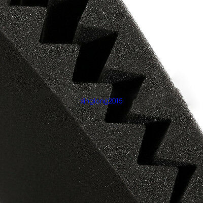 "24 Pack Acoustic Wedge Studio Soundproofing Foam Wall Tiles 12"" X 12"" X 1"" 4"