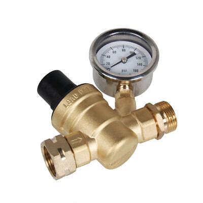 Rv Water Pressure Regulator Brass Lead Free Adjustable Pressure Reducer Gauge 39 99 Picclick
