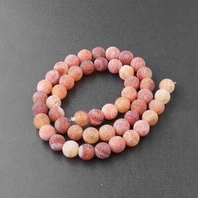 Wholesale Natural Matte Frosted Spacer Gemstone Round Loose Beads Assorted Stone 7