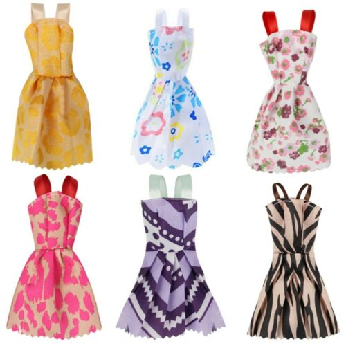 12Pcs Gown Dress Clothes Set For Barbie Dolls Wedding Party Prom Causal Decor 8