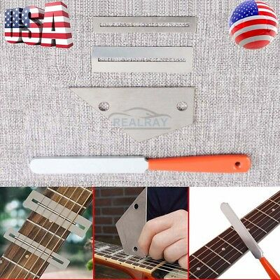 Guitar Fret Crowning Luthier File Leveling Grinding Tool Kits Guitar Repair Tool 2