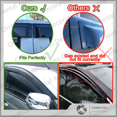 Premium Weather Shields Weathershields Window Visor Hilux Dual Cab 05-15  4pcs S 7