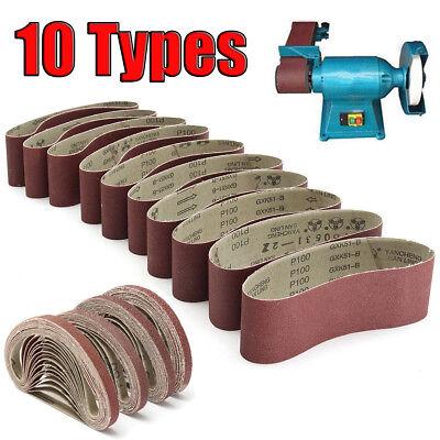 Various Size Sanding Belt 36~1000 Grit Abrasive Belts Metal Wood Polishing Tool 3