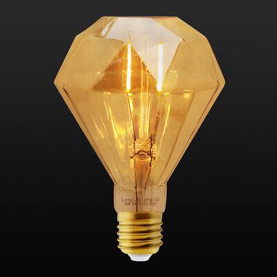 Vintage LED 2W Edison Style Filament Light Bulb B22 or E27 Twister ST58 A60 G95 3
