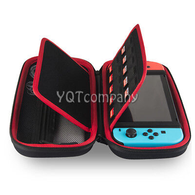 For Nintendo Switch Carrying Bag+6ft/2M Charging Cable+Clear Case+Tempered Glass
