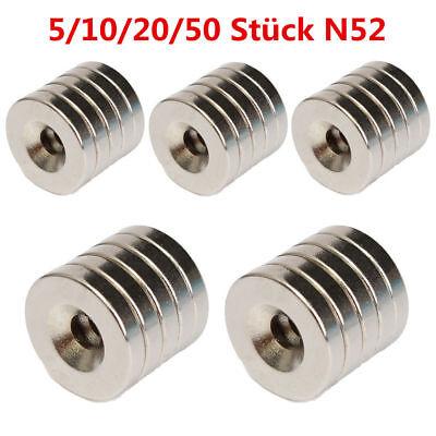 5/10/20/50 Stück N52 Neodym Supermagnete Runde Scheiben Magnet 15x3mm Loch 4mm 2