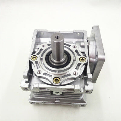 NMRV040 Worm Gearbox Geared Speed Reducer 14mm Input for 60/80/86/90 Motor 8