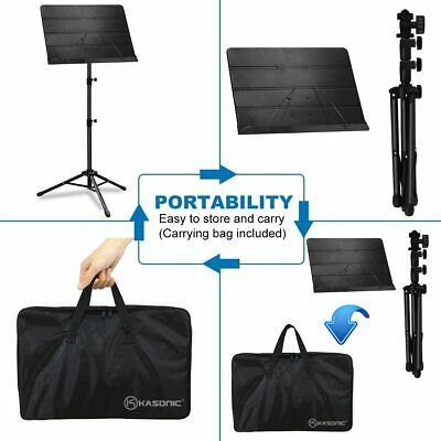 Music Stand, Professional Sheet Music Stand with Clip Holder, Carrying Bag 3