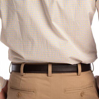 Men's Designer Leather Dress Belt With Sliding Ratchet Automatic Buckle Holeless 5