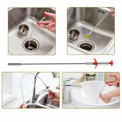 6 Pack Drain Snake Hair Drain Clog Remover Auger Catcher Bathtube Drain Cleaning 6