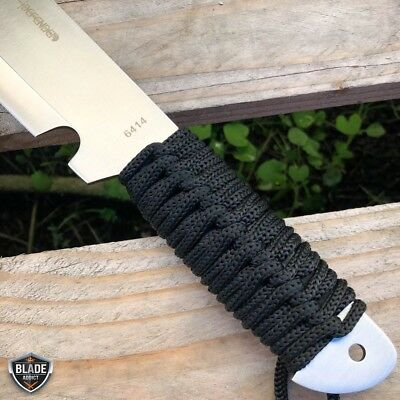 "19"" Jungle Machete Fixed Blade Hunting Knife Military Tactical Survival Sword 6"