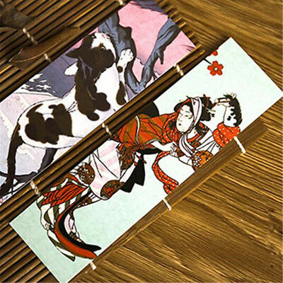 30pcs/lot Cute Paper Bookmark Vintage Japanese Style Book Marks Reading Supplies 6