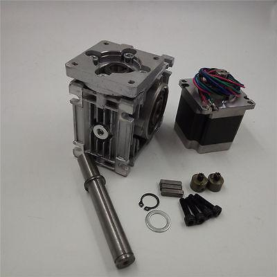 Ratio 30:1 Gearbox NEMA23 NMRV030 Worm Gear L56mm Stepper Motor Speed Reducer