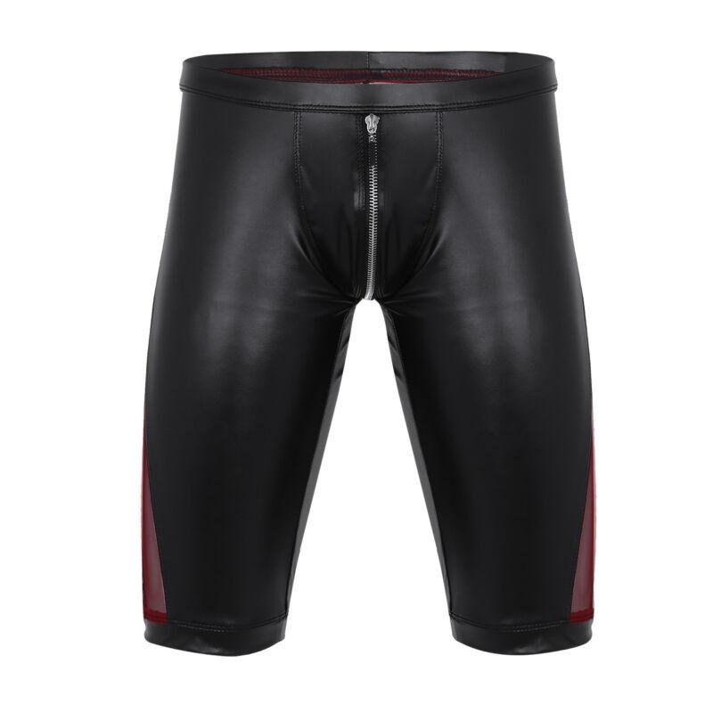 Herren Boxer Shorts Briefs Bikinihose mit Reißverschluss Unterwäsche Badehose 8