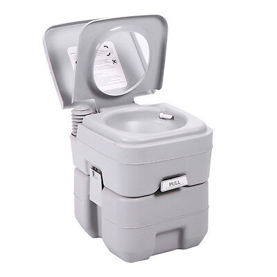 5 Gallon 20L Portable Toilet Flush Travel Camping Outdoor/Indoor Commode Potty 3