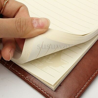 B6 Leather Note Book Rudder Brown Journal Blank Diary Book Combination Lock