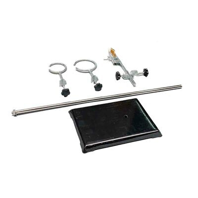 """Laboratory Stand Lab Holder Clamp Flask/Condenser/Tube Iron 50cm/19.7"""" Height 7"""