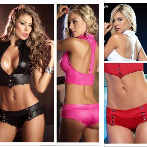 Sexy Women PU Leather Bikini Bathing Beachwear Underwear Lingerie Swimsuit Hot 2