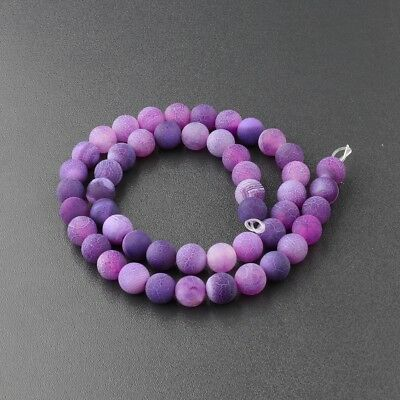 Wholesale Natural Matte Frosted Spacer Gemstone Round Loose Beads Assorted Stone 4