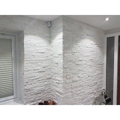 White Quartz Mini Split Face Tiles 600x150x8-15mm ...  Whitestone Wall Tile