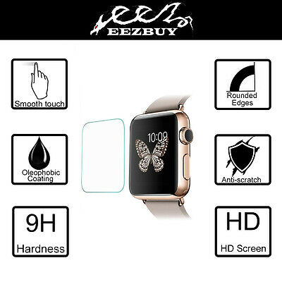 3 Pack Real Tempered Glass Film Screen Protector for Apple watch Iwatch 42mm