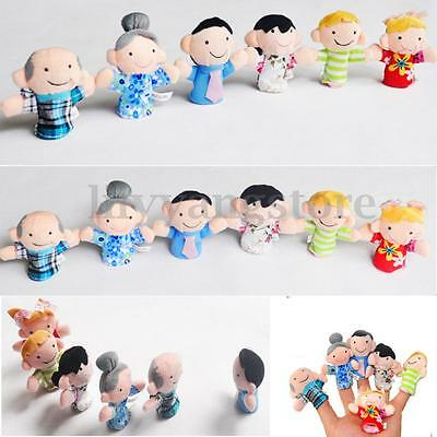 10/12X Family Finger Puppets Cloth Doll Baby Educational Hand Cartoon Animal Toy 6