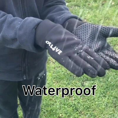 Football Field Player Gloves Waterproof Thermal Grip Boys Kids Junior 3