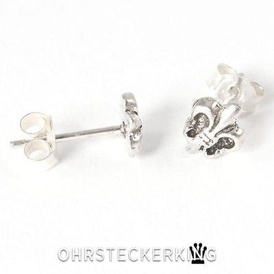 OHRSTECKER mini LILIE Fleur Echt 925er Silber 2 Stück ohrringe stecker SG3356