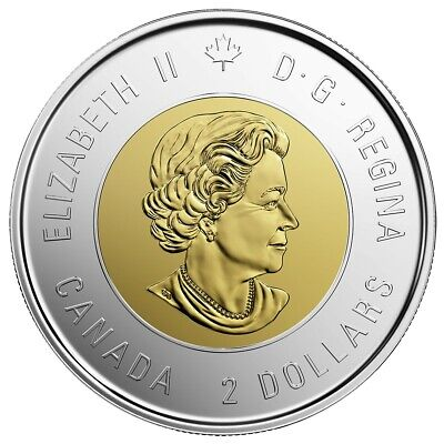 2019 Canada $2 D-Day UNC Coloured Toonie Coin From Special Wrap Roll 2