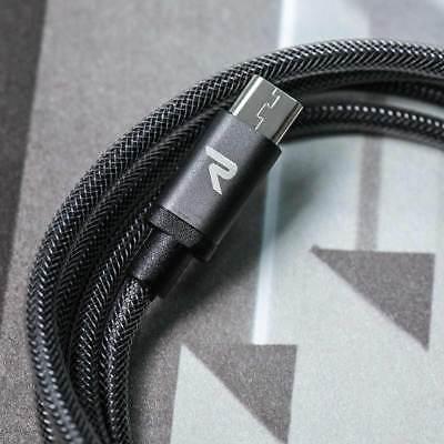 2x RAMPOW 1m Micro USB Kabel Schnell Ladekabel für Samsung S6 S7 Sony PS4 Huawei 5