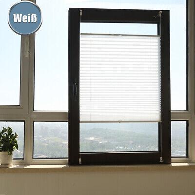 Plissee Jalousie Faltrollo klemmfix ohne Bohren Rollo für Fenster Tür Blickdicht 6
