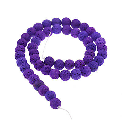 Dyed Volcanic Lava Rock Gemstone Beads Natural Stone Round 8mm Loose DIY Beads 2