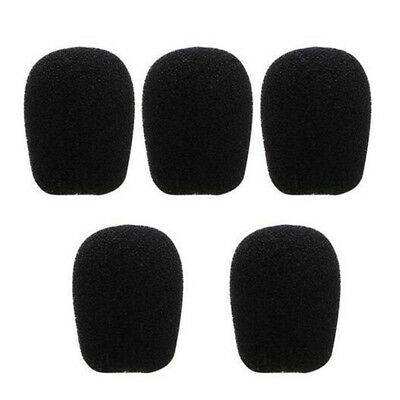 10pcs  Black Microphone Headset Foam Sponge Windscreen Mic Cover 6 Sizes 5