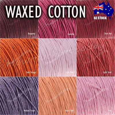 5m x1mm Waxed Cotton Thread Cord Beading Macrame String Bracelet Necklace DIY 2