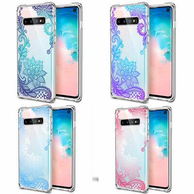 Galaxy Note 10 Plus 10+ S10e S10+ Case Mandala Lace Clear Bumper Cover F Samsung 4