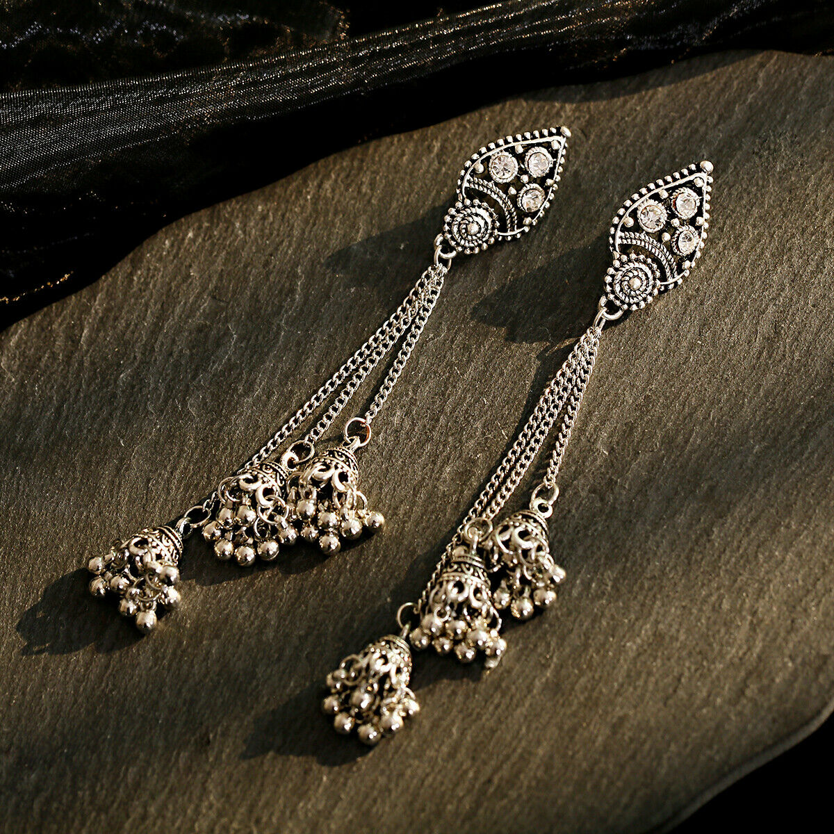 Women Jewelry Bohemia Indian Charm Gold&Silver Pendant Fashion Retro Earrings 12