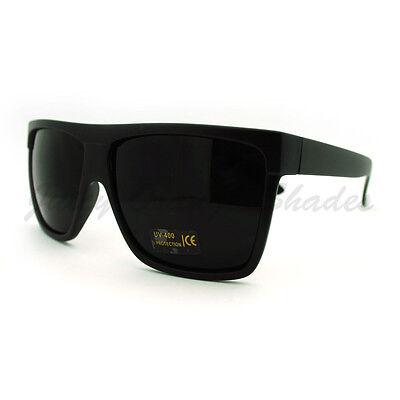 3370f7cc12 ... SUPER Dark Black Lens Sunglasses Flat Top Square Oversized Mob Style 2