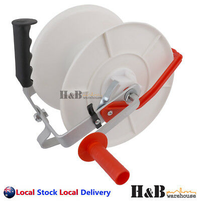 1:3 Geared Electric Fence Reel Wind Up Poly Tape Wire Rope Strip Grazing