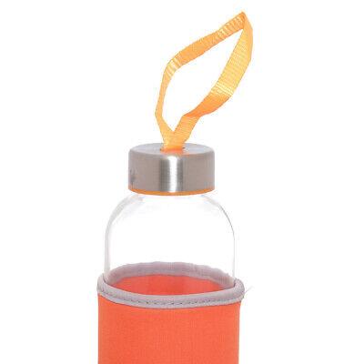 2 Bottiglie Thermos 500 Ml Bottiglia In Vetro Custodia Termica Borraccia 3298