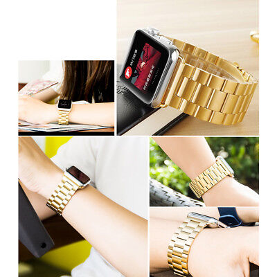 Stainless Steel iWatch Band Strap Wrist With Case For Apple Watch Series 1/2/3/4 2