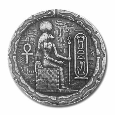1 - 1/2 oz .999 Silver Round - Old World Style Egyptian God Cat - Bastet - NEW 3