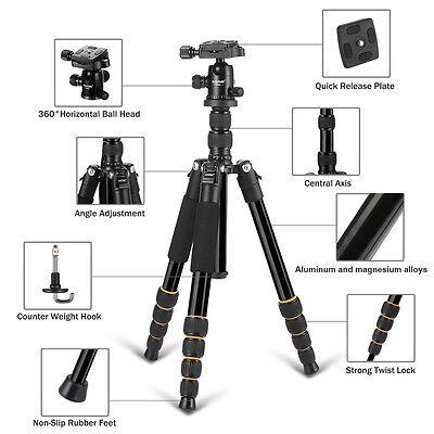 ZOMEI Q666 Portable Professional Tripod&Ball Head Travel for Canon DSLR Camera 4