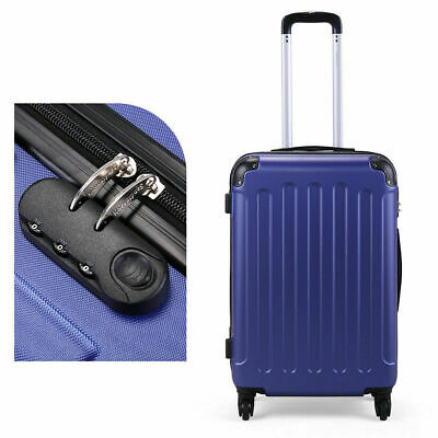 3 Piece Luggage Set Travel Trolley Suitcase ABS+PC Nested Spinner w/ Cover Blue 11
