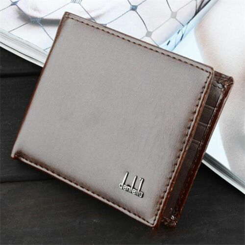 Men's Black Business Leather Wallet Pocket Card Holder Clutch Bifold Slim Purse 2