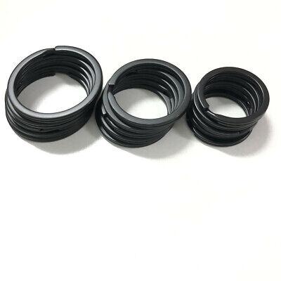 Strong Steel Solid Split Key Ring Black Metal Loop Flat Key Chain Holder 25-35MM 3