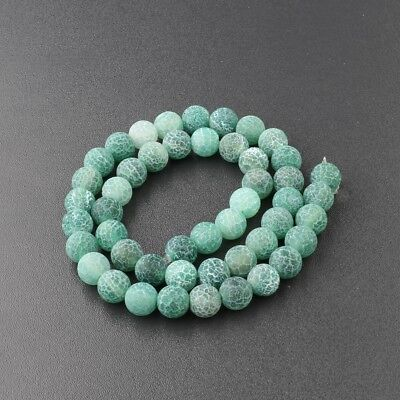 Wholesale Natural Matte Frosted Spacer Gemstone Round Loose Beads Assorted Stone 6